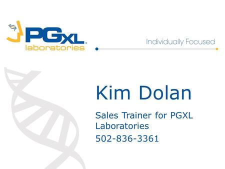 Sales Trainer for PGXL Laboratories