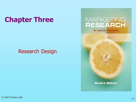 Chapter Three Research Design.