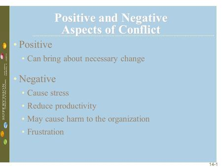 aspects of conflict Video created by university of california, irvine for the course types of conflict in this module we will discover the positive aspects of conflict, identify appropriate ways of managing.