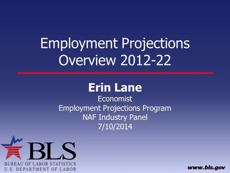 Employment Projections Overview