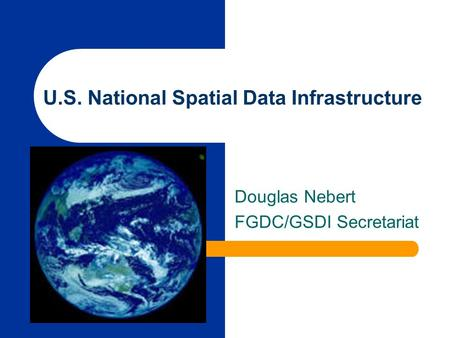 U.S. National Spatial Data Infrastructure