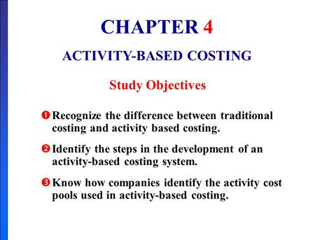 the association between activity based costing and The study also examines the association between eam and environmental performance, and the role of decision quality as a mediator in this relationship design/methodology/approach data were collected from 208 australian organisations across different industries using a mail survey questionnaire.