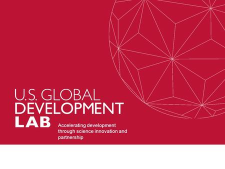 Accelerating development through science innovation and partnership.
