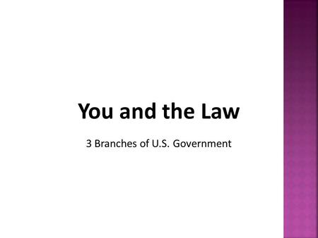 3 Branches of U.S. Government.  Article I – Legislative Branch  Believed the Legislative Branch would have the most important role  making laws.