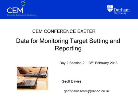 Data for Monitoring Target Setting and Reporting