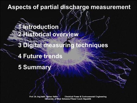Aspects of partial discharge measurement