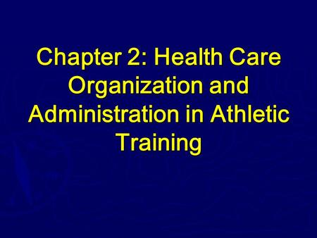 System of Healthcare Management