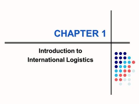 Introduction to International Logistics