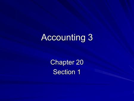 Accounting 3 Chapter 20 Section 1. Uncollectible Accounts Even though companies do thorough credit checks on their customers, it is inevitable that some.