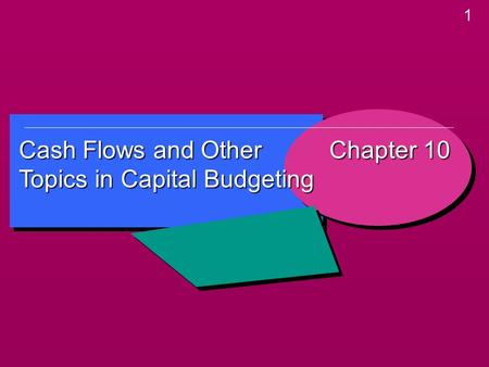1 Cash Flows and Other Topics in Capital Budgeting Chapter 10.