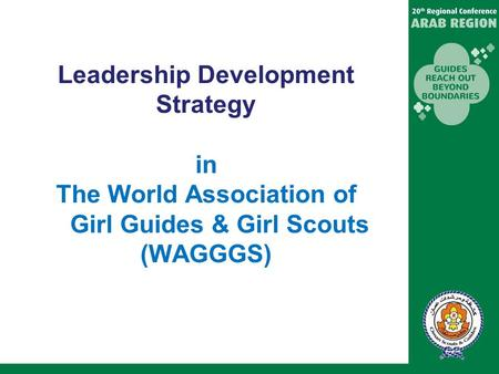 Leadership Development in WAGGGS