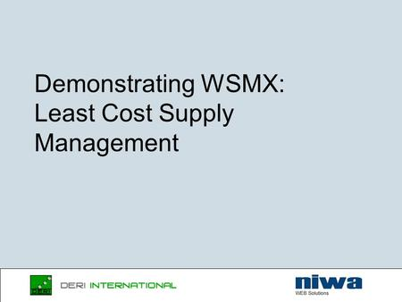 Demonstrating WSMX: Least Cost Supply Management.