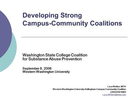 Developing Strong Campus-Community Coalitions