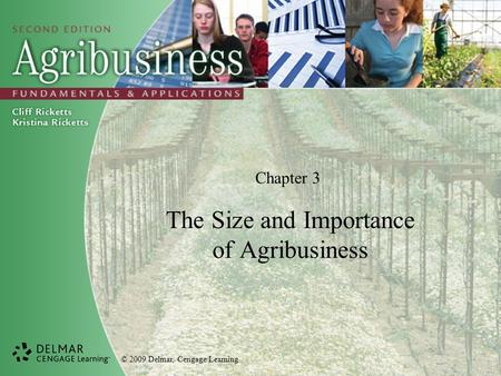 © 2009 Delmar, Cengage Learning Chapter 3 The Size and Importance of Agribusiness.
