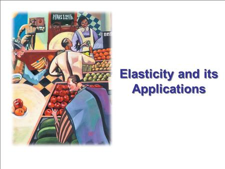 Elasticity and its Applications. Learn the meaning of the elasticity of demand. Examine what determines the elasticity of demand. Learn the meaning of.