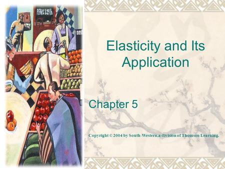 Elasticity and Its Application Chapter 5 Copyright © 2004 by South-Western,a division of Thomson Learning.