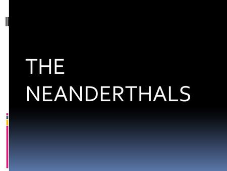 THE NEANDERTHALS. The Neandertals  At one time they were considered brutish, hunched-over, dim-witted members of a dead- end side branch of human evolution.