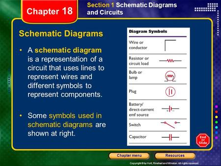 Chapter 18 Schematic Diagrams