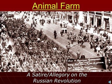 'Animal Farm' and Satire