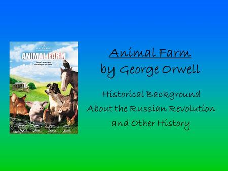 comparing animal farm cuban revolution Cuban citizens were at a point where they needed to be free and be able to enforce the constitution comparing animal farm to the cuban revolution essay.