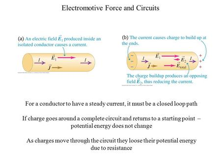 As charges move through the circuit they loose their potential energy
