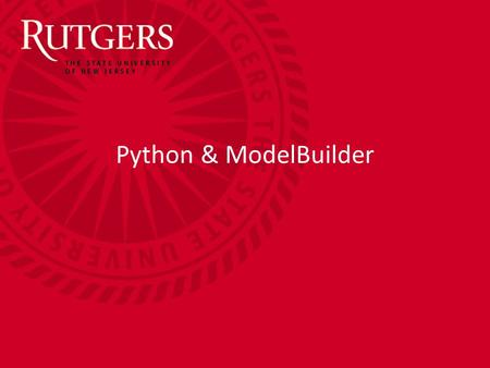 Python & ModelBuilder. Continuing Education Python and ModelBuilder Overview Python/ModelBuilder Concepts –The Geoprocessor –Checking some environment.
