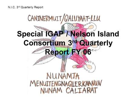 Special IGAP / Nelson Island Consortium 3 rd Quarterly Report FY 06 N.I.C. 3 rd Quarterly Report.