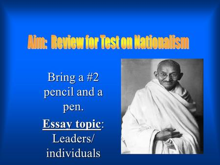 individuals who have changed history essay