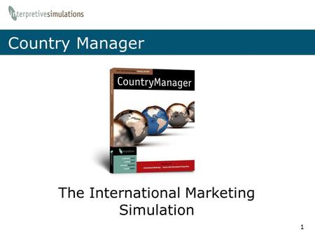 The International Marketing Simulation