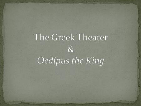 oedipus the king a classical tragedy essay
