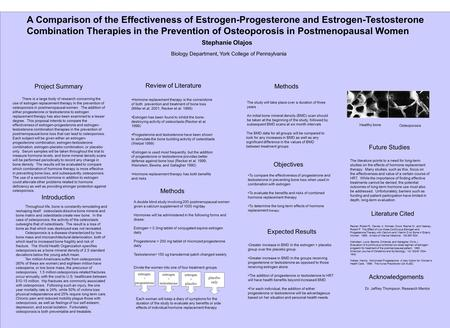 A Comparison of the Effectiveness of Estrogen-Progesterone and Estrogen-Testosterone Combination Therapies in the Prevention of Osteoporosis in Postmenopausal.