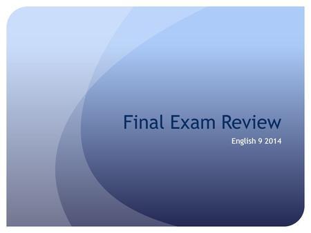 Agency & Partnership Final Exam Review