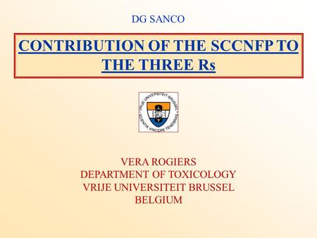 CONTRIBUTION OF THE SCCNFP TO