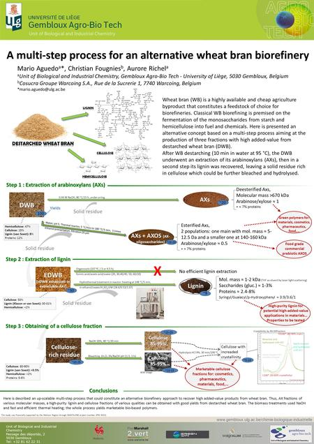 Hemicellulose: 47% Cellulose: 15% Lignin (van Soest): 8% Proteins: 12% A multi-step process for an alternative wheat bran biorefinery Wheat bran (WB) is.