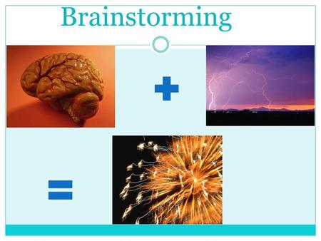 Brainstorming. Make Brainstorming Part of Your Teaching Methods.