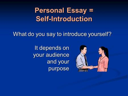 intro to essay college The college application essay is your chance to show schools who you are learn how to write a college essay that sets you apart.