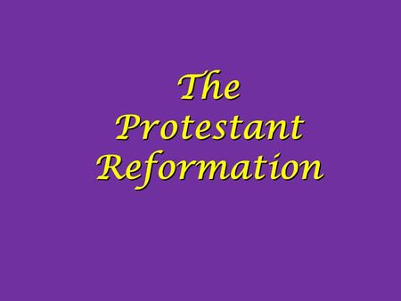 Essay about protestant reformation