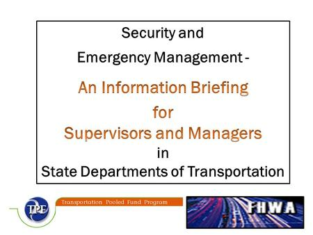 3  Why does a supervisor or manager need to be familiar with emergency management terms and concepts?