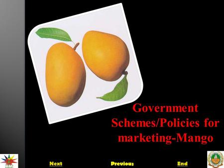 Government Schemes/Policies for Government Schemes/Policies for marketing-Mango NextPreviousEnd.