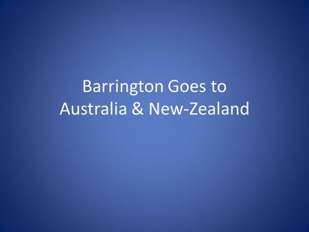 Barrington Goes to Australia & New-Zealand. Supplier #1 Server Extranet XML clients Web- site White Label E-mail clients Supplier #2 Supplier #3 Supplier.