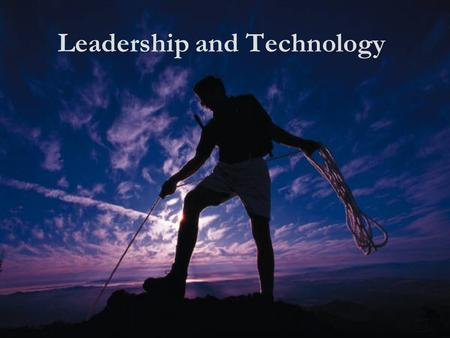 "Leadership and Technology. Leadership ""Most people think of leadership as a position and therefore don't see themselves as leaders."" Dr. Stephen Covey."