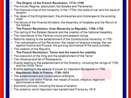 The Origins of the French Revolution, 1774–1789