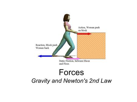 Forces Gravity and Newton's 2nd Law. Mass = how much matter is in an object 1. More mass = greater __________ (harder to move or stop) 2. The platinum.