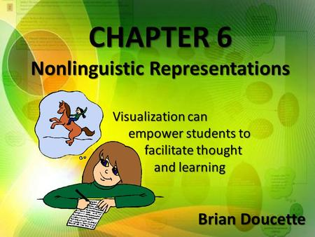 CHAPTER 6 Nonlinguistic Representations