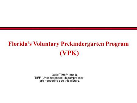 Florida's Voluntary Prekindergarten Program (VPK).