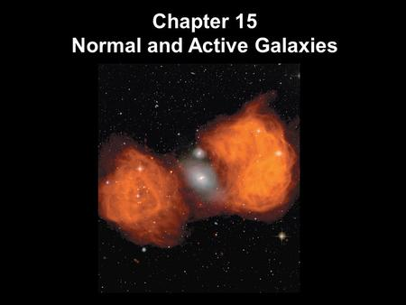 Chapter 15 Normal and Active Galaxies. Units of Chapter 15 Hubble's Galaxy Classification The Distribution of Galaxies in Space Hubble's Law Active Galactic.
