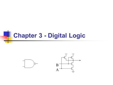 Chapter 3 - Digital Logic