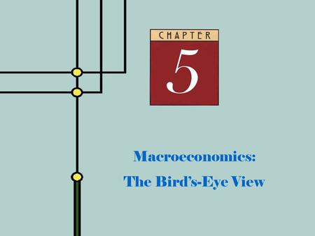 Copyright © 2001 by The McGraw-Hill Companies, Inc. All rights reserved. Slide 5 - 0 Macroeconomics: The Bird's-Eye View.