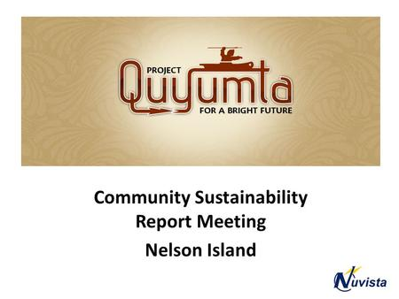 Quyumta Community Sustainability Report Meeting Nelson Island.