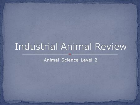 Animal Science Level 2. Unit EQ: What are industrial animals and how are they utilized? Concept : Beef Lesson EQ: How are cattle manipulated for food?